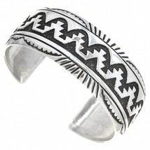 Navajo Rose & Tommy Singer RUG DESIGN OVERLAY BRACELET Sterling Silver s... - $289.00