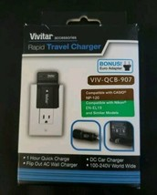 Vivitar Rapid Travel Charger & Wall Plug VIV-QCB-907    (5886) - $9.74