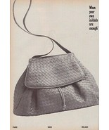 1983 Bottega Veneta Purse Shoes 2-pg Black and White Vintage Print Ad 1980s - $7.13