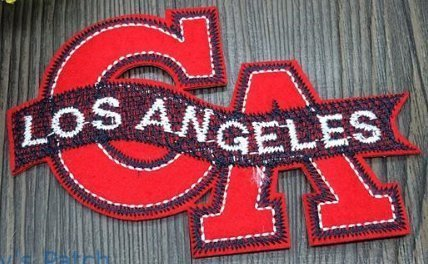 Los Angeles CA Embroidered Patch Size 3 3/4 x 2 3/4. Shipped from USA