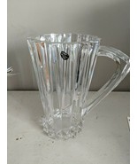 ROSENTHAL CLEAR LEAD CRYSTAL OR HEAVY RIBBED GLASS PITCHER - $93.49