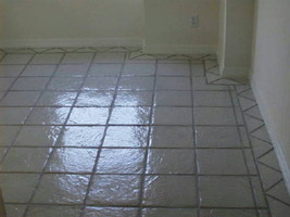 "Slate Texture Tile Molds (6) to Make 100s 9""x9"" Floor Tiles, Patio Pavers #0910 image 1"