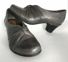 Cobb Hill New Balance Women's Stacy Gray Leather Dress Casual Block Heels 9.5 - $48.46
