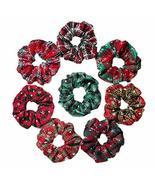 8 Pcs Winter Polyester Hair Scrunchies Woven Christmas Hair Band Snowfla... - $17.11