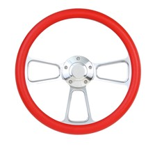 1965 1966 1967 1968 1969 Ford Mustang Red Steering Wheel, Horn & Adapter - $159.99