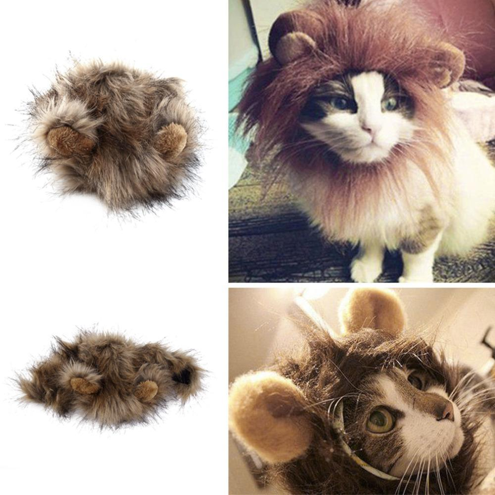 1 pc Furry Pet Costume Lion Mane Wig For Cat Party