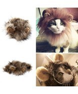 1 pc Furry Pet Costume Lion Mane Wig For Cat Halloween Party - $107,02 MXN+