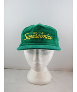Seattle Supersonics Hat (VTG) - Corduroy Script by Sport Specialties - Z... - $149.00