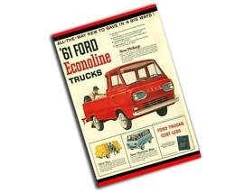 1961 Ford Econoline Truck Magazine Ad Reproduction 8x12 Inch Aluminum Sign - $19.75