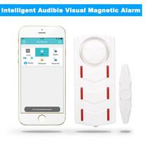 Door Sensor Intelligent Audible Visual Magnetic Alarm Security Warning S... - $23.31