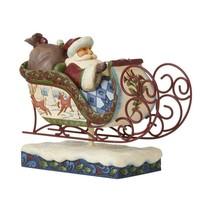 """Jim Shore Victorian Santa in Sleigh 11"""" Long Christmas Collectible #6009493"""