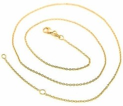 18K YELLOW GOLD CHAIN 1.0 MM ROLO ROUND CIRCLE LINK, 19.7 INCHES, MADE IN ITALY  image 1