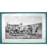 BIBLE Cain Flying before Jehovah's Curse - VICTORIAN Era Print - $12.15