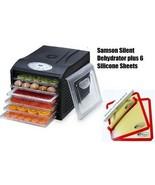 "Samson ""Silent"" 6 Tray Dehydrator with Digital Controls PLUS 6 SILICONE ... - $114.95"