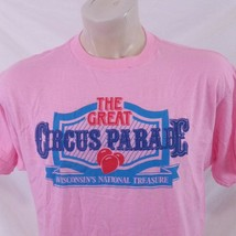 Vintage 80s Circus Parade T Shirt Single Stitch Clown Tour Band Tee Prom... - $24.99