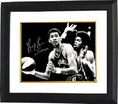 George Gervin signed Virginia Squires ABA 16x20 Vintage B&W Photo Custom... - £104.63 GBP