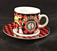 Sakura Roadside Route 66 coffee mug cup & saucer demitasse Lot of 2 set D5 - $14.84
