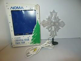 Vintage NOMA C7 Light CRYSTAL Star Tree TOPPER 4970 2 Sided IOB - $21.95