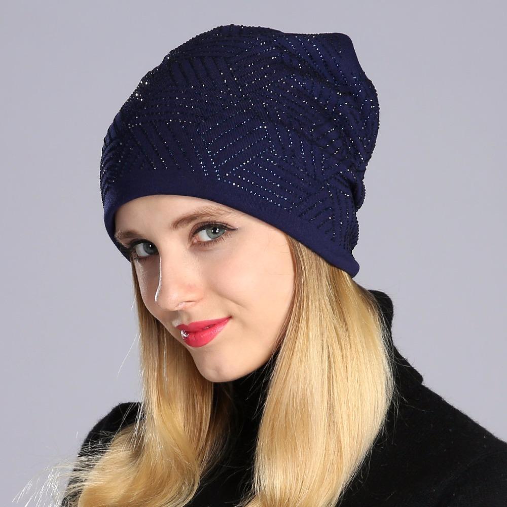 099ae902fa75e Geebro Brand New Women s Beanie Hat Casual Knitted Beanie For Women Shine