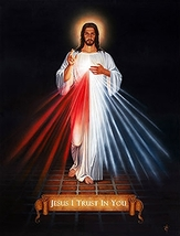 "DIVINE MERCY - Print - 8"" x 11.5"" by Tommy Canning - $22.95"