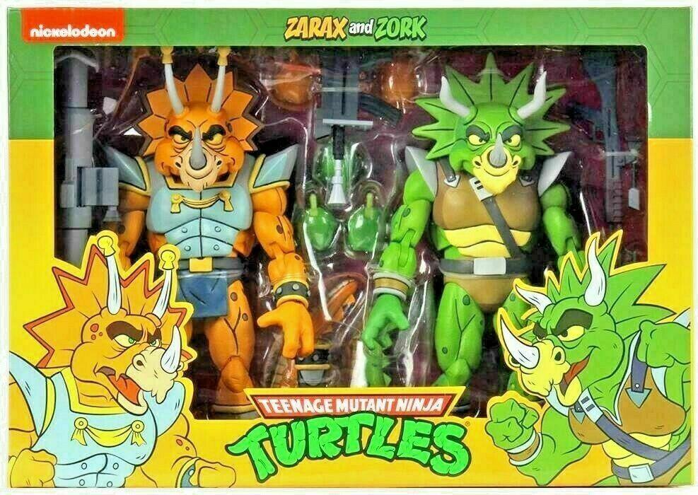 "NECA Teenage Mutant Ninja Turtles ZARAK and ZORK 7"" Action Figure 2 Pack TMNT"