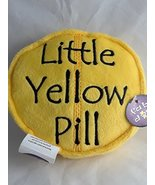 "fabdog Little Yellow Pill Plush Dog Squeaker Chew Toy Yellow 5.5"" - $8.86"