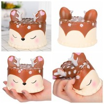 Jumbo Squishy Deer Cake Slow Rising Scented Squeeze Stress Reliever Toy Gift Lot - $5.12