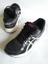 ASICS GEL CONTEND 3 T5F9Q Running Sneaker Shoes Black-Silver Womens Size... - $31.68
