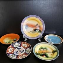 5 Vintage Lusterware Plates Saucer Made in Japan Cherry Blossom Imari La... - $29.99