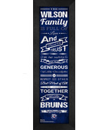 "Personalized Belmont Bruins ""Family Cheer"" 24 x 8 Framed Print - $39.95"