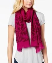 Echo Jaipur Birds Wool Scarf (Indian Rose, One Size) - $88.98