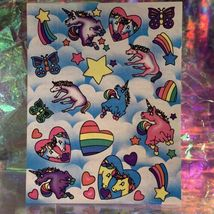 Vintage  Mint Lisa Frank Full Sticker Sheet Markie Unicorn S126  image 5