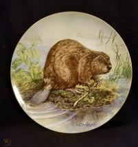 The Beaver First Edition Signed Collector Plate with Case & Certificate - $24.75