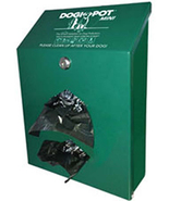 DOGIPOT Green Aluminum Junior Dog Waste Bag Dispenser - 2 Diamond Shaped... - $122.82