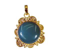 appealing Green Onyx Gold Plated Green Pendant Fashion gemstone US - $5.63