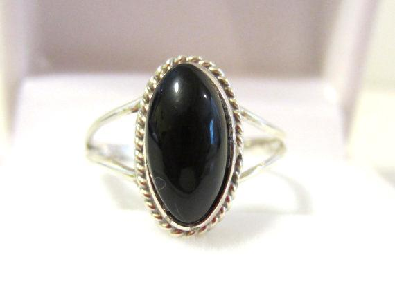 Sterling silver 925 black Oynx ring size 7