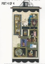 Tuffets Cupboard Part 4 P1050 Applique/Feltwork pattern with button pack JABC  - $21.60