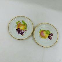 Haviland Plates Fruit Theme Gold Trim Scalloped Edges Porcelain Bavaria ... - $48.46