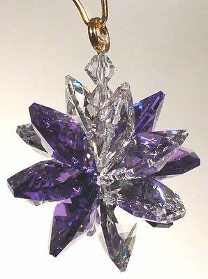 Clear and Blue Violet Small Suncluster with Austrian Crystal