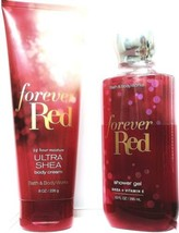 Bath and Body Gift Set of 2 Works Forever Red Shower Gel and Body Cream - $22.77
