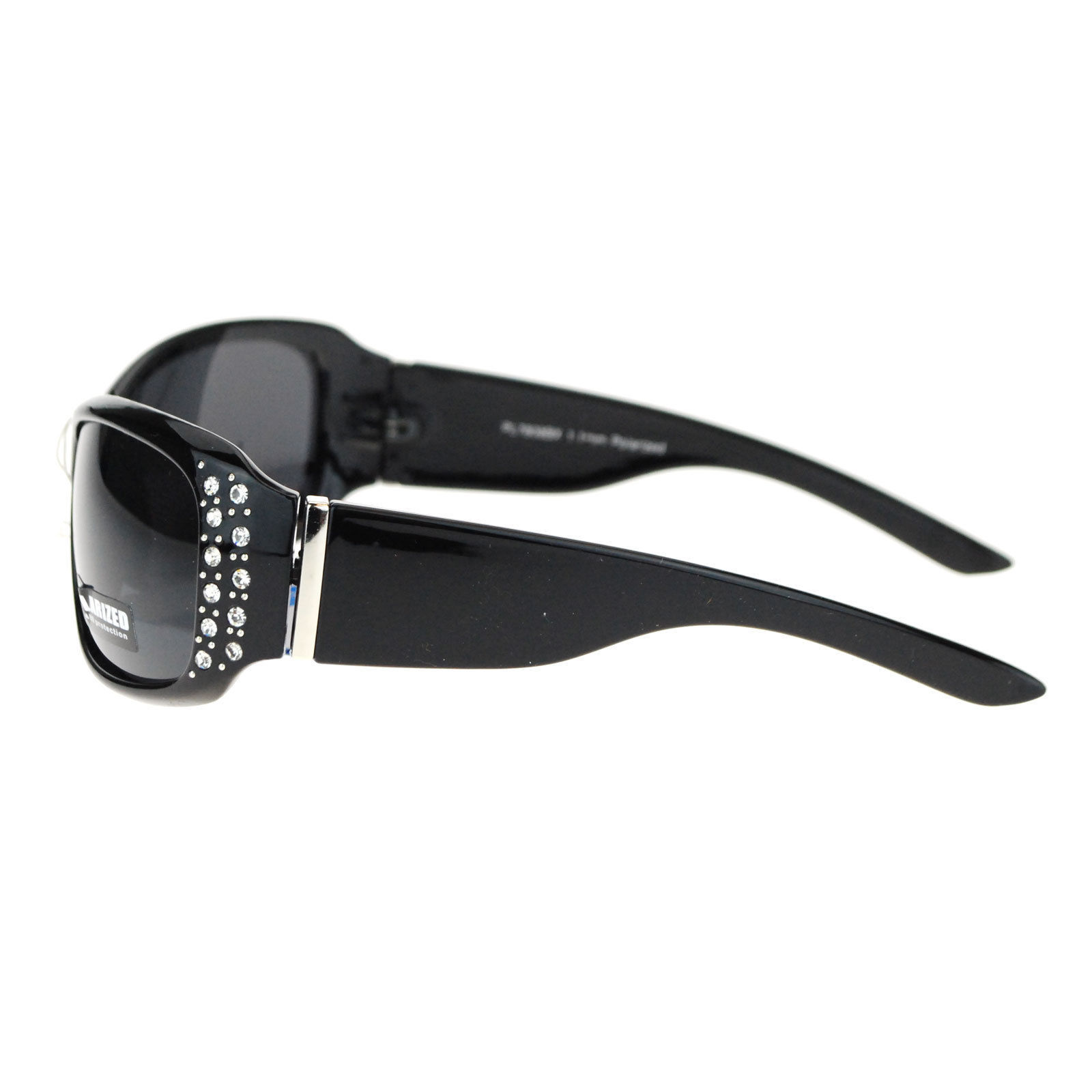 No Glare Polarized Rhinestone Bling Iced Out Butterfly Designer Sunglasses