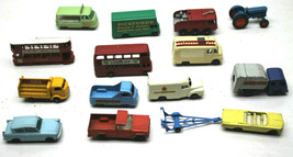 14pc Mid 1960s Lesney England Matchbox HO Diecast Cars Trucks Buses One ... - $232.82