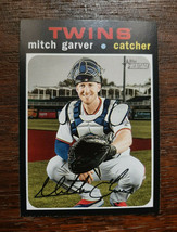 x1 2020 Topps Heritage Base #96 Mitch Garver Minnesota Twins Baseball Ca... - $1.99
