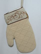 Grasslands Road Brand Cucina Style Set of Two Quilted, Embroidered Light Tan Ove image 3