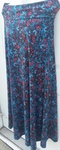 Lularoe Small Maxi Skirt Teal Floral Paisley NWOT! Shades of blue, Reds Pretty - $40.00