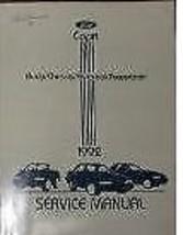1992 Ford Mercury Capri Servicio Reparación Manual Taller Oem Libro - $24.75