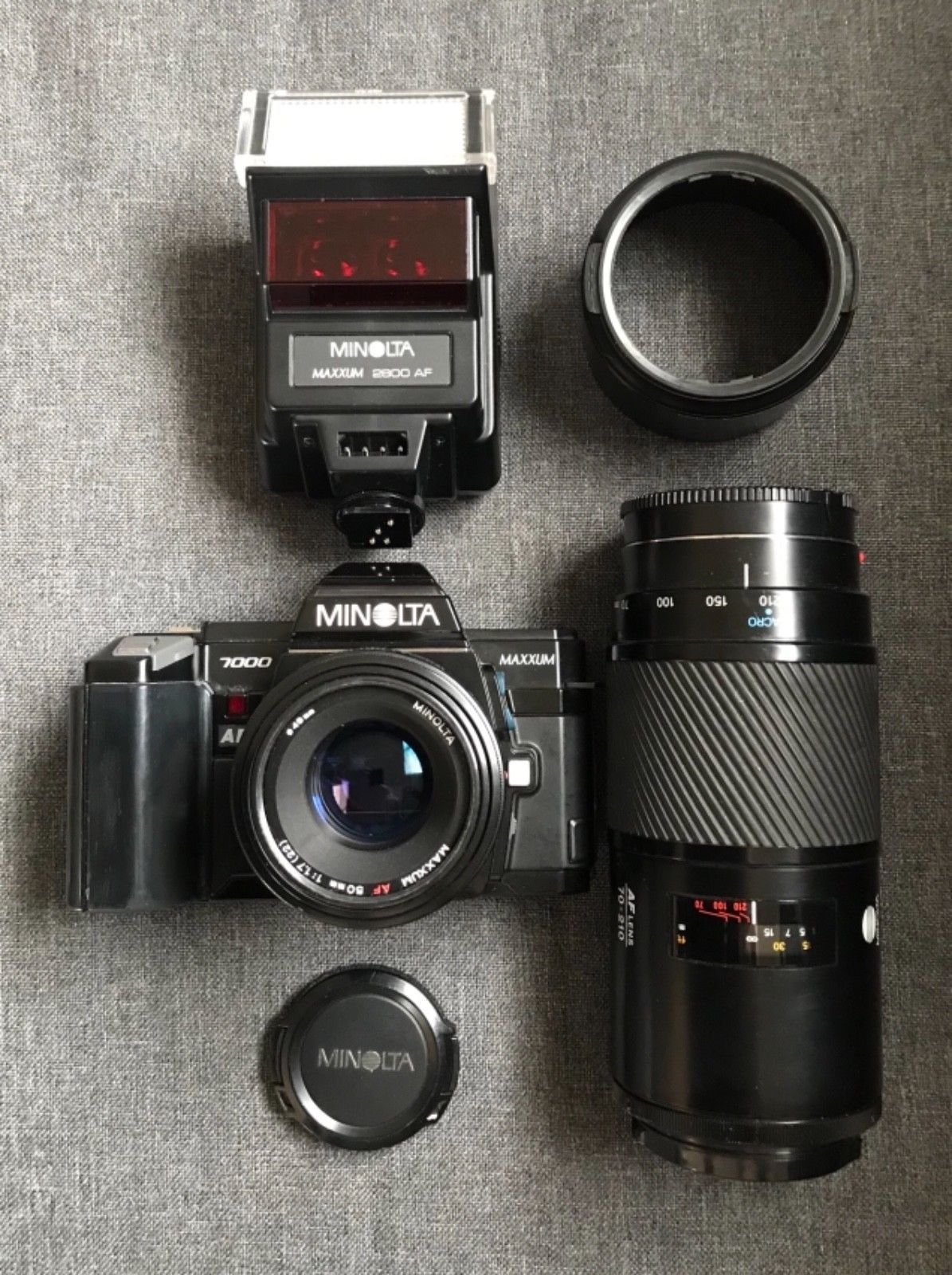 Minolta Maxxum 7000 AF Camera w 2 Minolta and 34 similar items