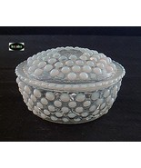Moonstone Puff Box And Cover Hocking - $17.50