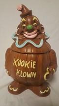"""VTG Ceramic Cookie Jar Kookie Klown Clown 13"""" - $58.04"""