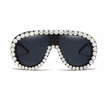 Fashion Butterfly Frame Women Sunglasses Rhinestone Bling Oversize Luxur... - $29.59